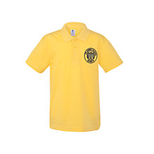Buy St John's Walham Green CE Primary School Polo Shirt, Yellow Online at johnlewis.com