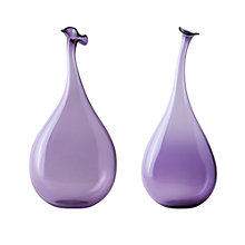 Buy William Yeoward Studio Art Wonky Bottles, Amethyst Online at johnlewis.com
