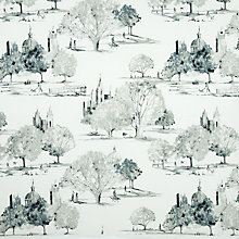 Buy John Lewis Park Scene Print Fabric, Onyx Online at johnlewis.com