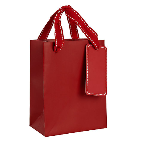 Buy John Lewis Gift Bag, Red Online at johnlewis.com