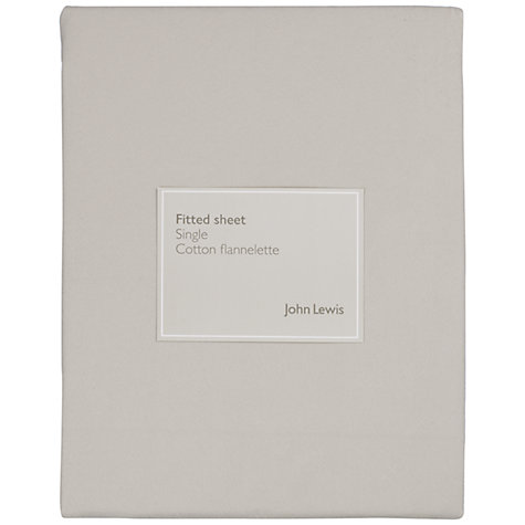 Buy John Lewis Soft & Cosy Flannelette Fitted Sheets Online at johnlewis.com