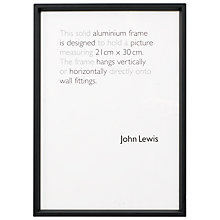 Buy House by John Lewis Wall Photo Frame, Matt Black, A4 (21 x 30cm) Online at johnlewis.com