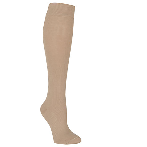 Buy HJ Hall Flysafe Knee High Compression Socks, Ecru Online at johnlewis.com