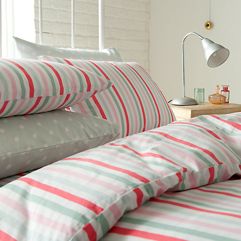 Buy Cath Kidston Bon Bon Stripe Duvet Covers, Multi Online at johnlewis.com