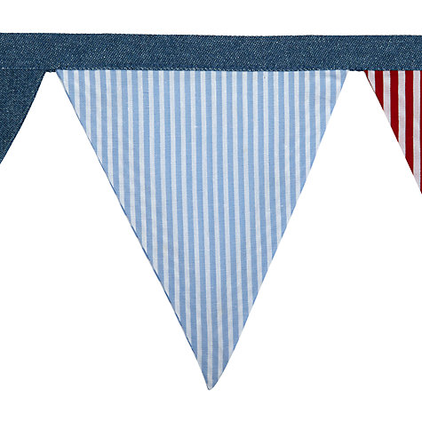 Buy little home at John Lewis Ahoy Bunting, Blue, 3m Online at johnlewis.com