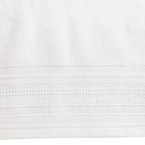 Buy John Lewis Flat Border Towels, White Online at johnlewis.com