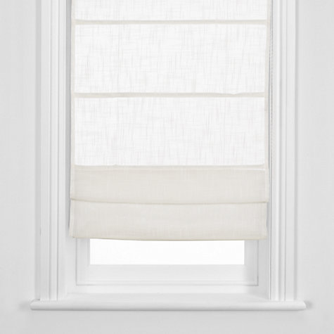 Buy John Lewis Linen Sheer Roman Blind, White Online at johnlewis.com