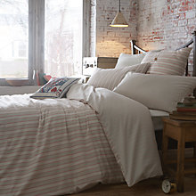Buy Jigsaw Antique Stripe Duvet Covers, Red Online at johnlewis.com