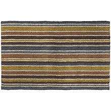 Buy John Lewis Jute Loop Mineral Stripe Doormat, Multi Online at johnlewis.com