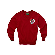 Buy Francis Holland School Girls' Pullover, Maroon, Chest 44 Online at johnlewis.com