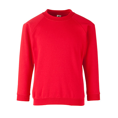 Buy School Crew Neck Sweatshirt, Scarlet Online at johnlewis.com