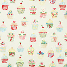Buy John Lewis Cupcakes Gloss PVC Tablecloth Fabric, Multi Online at johnlewis.com
