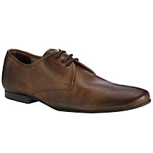 Buy Dune Curious 3 Leather Lace Up Shoes, Brown Online at johnlewis.com