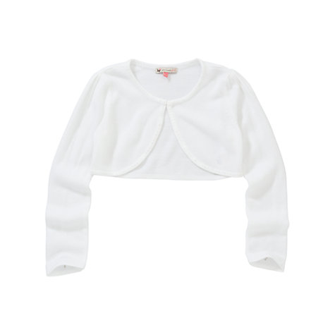 Buy John Lewis Girl Sequin Edge Bridesmaid Cardigan, White Online at johnlewis.com