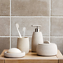 Buy John Lewis Mint Sandstone Bathroom Accessories  Online at johnlewis.com