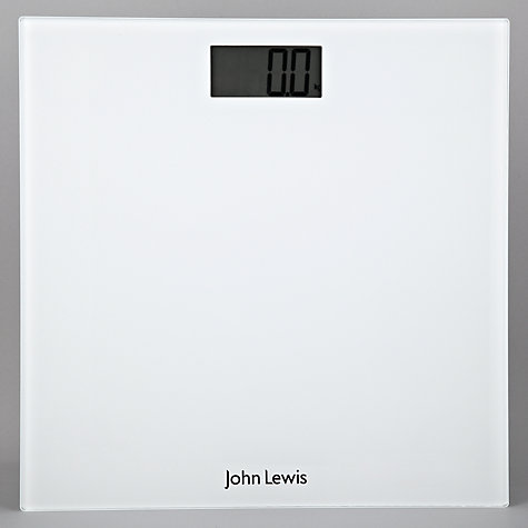 Buy John Lewis Digital Bathroom Scale, Glass Online at johnlewis.com