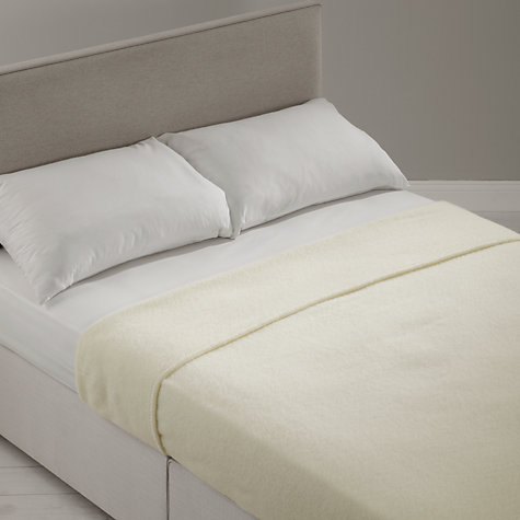 Buy John Lewis Pure New Wool Blanket Online at johnlewis.com