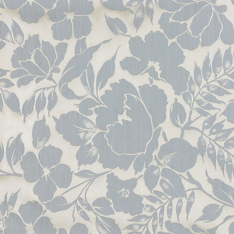 Buy John Lewis Wild Woven Floral Garden Fabric, Duck Egg Online at johnlewis.com