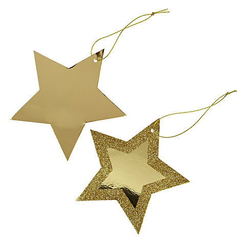 Buy John Lewis Metallic Star Gift Tags, Pack Of 10 Online at johnlewis.com