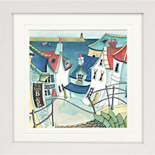 Buy Catherine Stephenson- Coastal Town Framed Prints Online at johnlewis.com