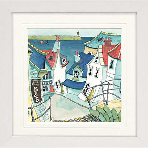Buy Catherine Stephenson - Coastal Town 1 Framed Print, 65 x 65cm Online at johnlewis.com