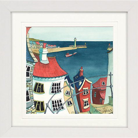 Buy Catherine Stephenson- Coastal Town 3 Framed Print, 65 x 65cm Online at johnlewis.com