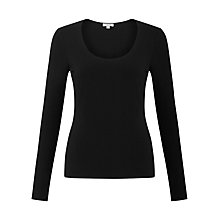 Buy Jigsaw Stretch Cotton Scoop Neck Top Online at johnlewis.com
