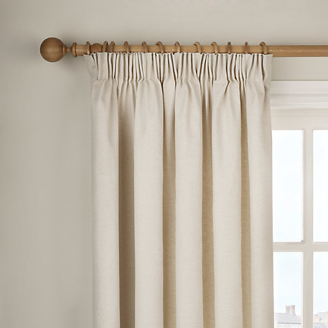 Buy John Lewis Cotlin Lined Pencil Pleat Curtains, Natural Online at johnlewis.com