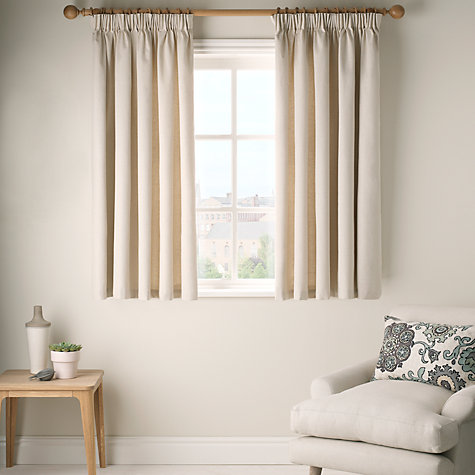 Buy John Lewis Croft Collection Cotlin Lined Pencil Pleat Curtains, Natural Online at johnlewis.com