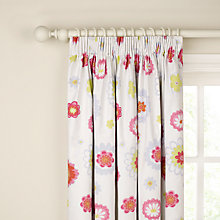 Buy little home at John Lewis Amelie Pencil Pleat Blackout Lined Curtains, Pink Online at johnlewis.com