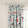 little home at John Lewis Dinotastic Pencil Pleat Blackout Lined Curtains, Blue