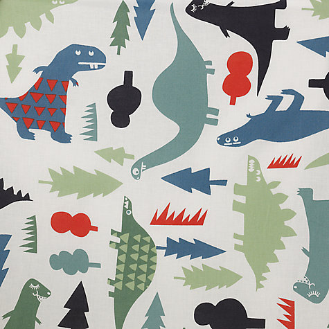 Buy little home at John Lewis Dinotastic Pencil Pleat Blackout Lined Curtains, Pair, Blue Online at johnlewis.com