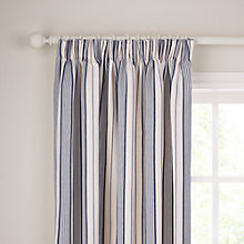 Buy John Lewis Dorset Stripe Lined Pencil Pleat Curtains, Blue Online at johnlewis.com