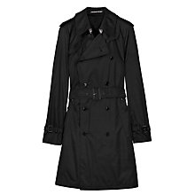 Buy Aquascutum Belted Aquamac Raincoat, Black Online at johnlewis.com
