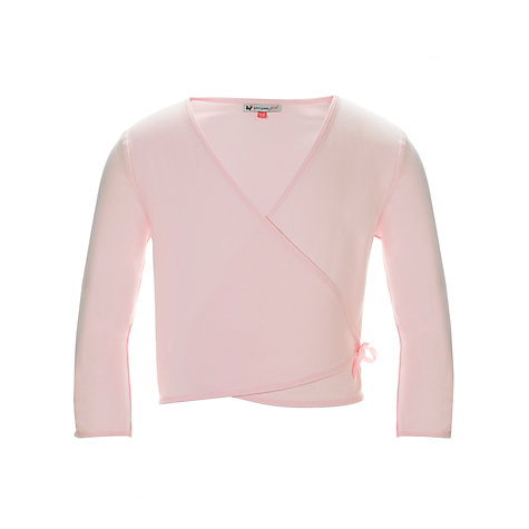 Buy John Lewis Girl Ballet Wrap Cardigan, Pink Online at johnlewis.com