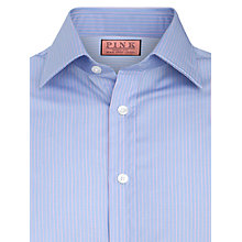 Buy Thomas Pink XL Sleeves Alexander Single Cuff Stripe Shirt, Blue/Pink Online at johnlewis.com