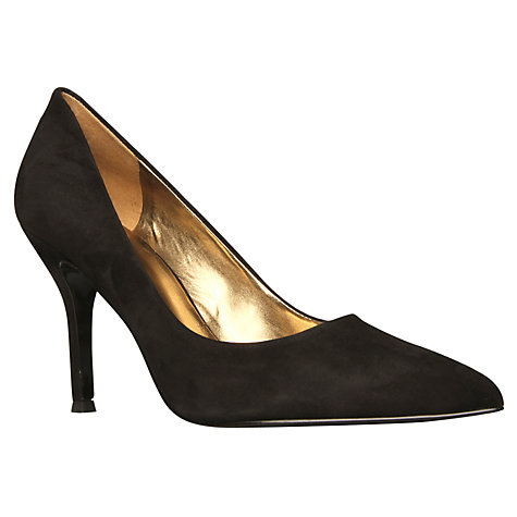 Buy Nine West Flax Suede Court Shoes, Black Online at johnlewis.com