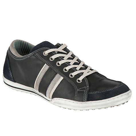 Buy Dune Whiskey Stripe Leather Trainer, Navy Online at johnlewis.com