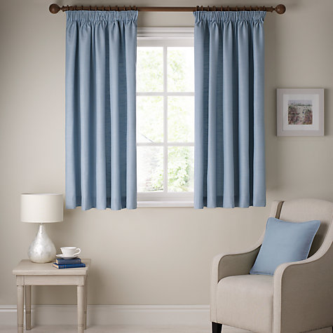 Buy John Lewis Polycotton Rib Lined Pencil Pleat Curtains Online at johnlewis.com