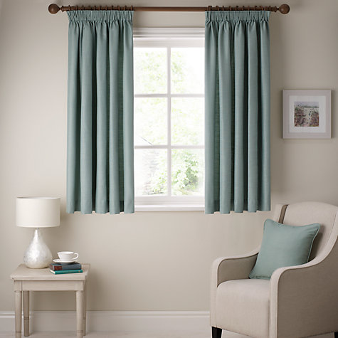 Buy John Lewis Polycotton Rib Pencil Pleat Curtains Online at johnlewis.com