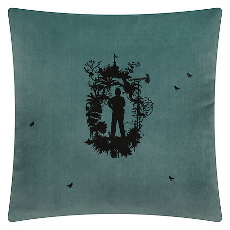 Buy Timorous Beasties for John Lewis Westminster Cushion, Blue Online at johnlewis.com