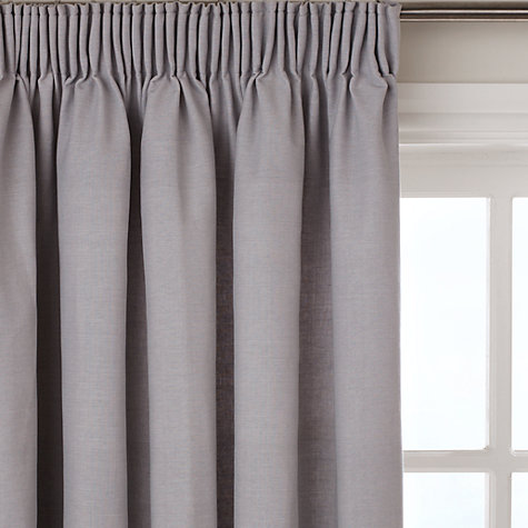 Buy John Lewis Cotton Rib Lined Pencil Pleat Curtains