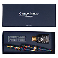 Buy Campo Marzio Minny Les Pois Fountain & Ballpoint Pens with Ink Set Online at johnlewis.com