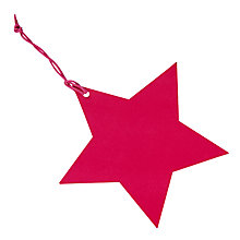 Buy John Lewis Star Gift Tags, Pink, Pack Of 5 Online at johnlewis.com