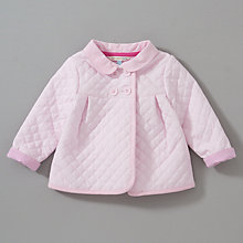 Buy John Lewis Baby Quilted Jacket, Pink Online at johnlewis.com