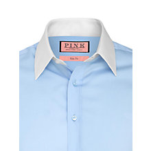 Buy Thomas Pink Winchester Plain Shirt, Pale Blue Online at johnlewis.com