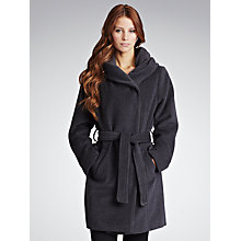 Buy Gérard Darel Hooded Wool Coat, Grey Online at johnlewis.com