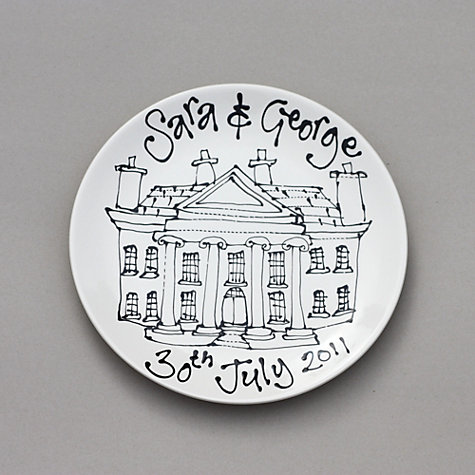 Buy Gallery Thea Personalised Plate, Wedding Venue or Home Online at johnlewis.com