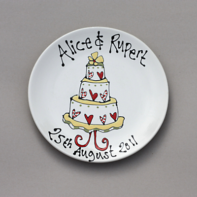 Gallery Thea Personalised Wedding Plate, Wedding Cake