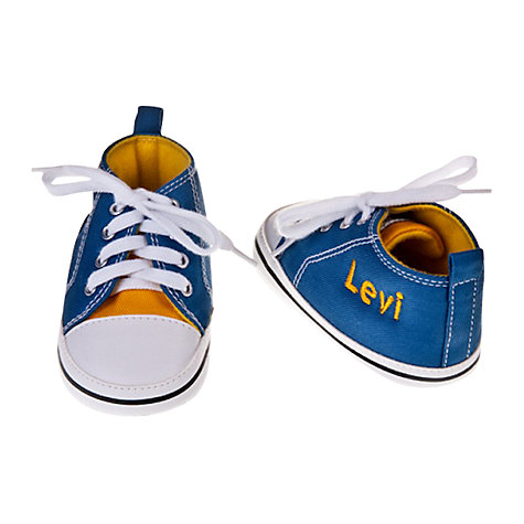 Buy My 1st Years Personalised Trainers, Blue/Yellow Online at johnlewis.com